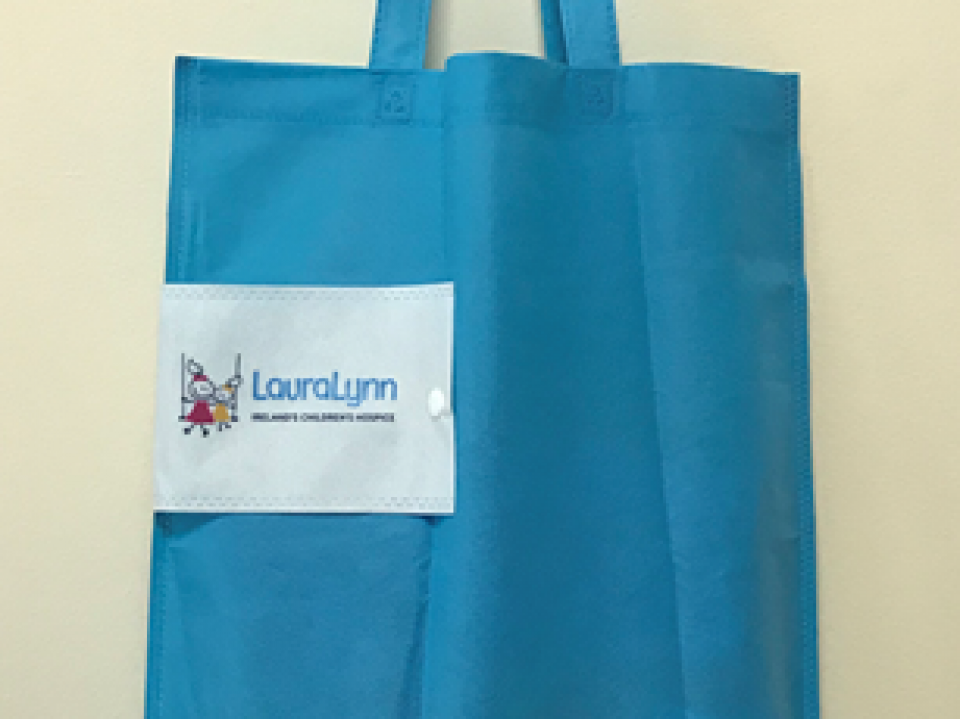 LauraLynn Foldable Canvas Tote Bag